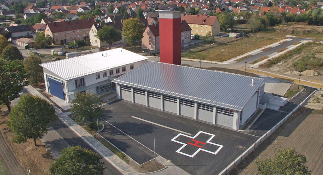 Architekten Denz Passau - Neubau Feuerwehrhaus Manching